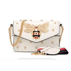 WILSLAT женские сумки-мессенджеры модные дизайнерские маленькие сумки через плечо с цепочкой для женщин Роскошные сумки с жемчужным узором су...