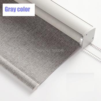 New Arrival Japanese style roller blinds Gray color Cotton and Linen Texture Fabric Aluminium alloy window blinds for bedroom