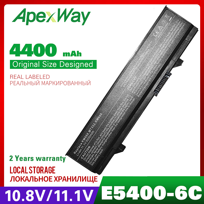 4400mAh Laptop Battery For DELL 312-0762 312-0769 451-10616 KM742 KM769 Latitude E5400 E5410 E5500 E5510