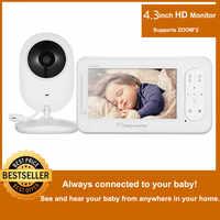 MBOSS 4.3 pollici Wireless Video Baby Monitor 2 Vie Parlare Ad Alta Risoluzione Del Bambino Telecamera di Sicurezza Nanny Modalità VOX di Monitoraggio della Temperatura