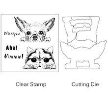 Zhuoang милые режущие штампы животных и набор прозрачных штампов