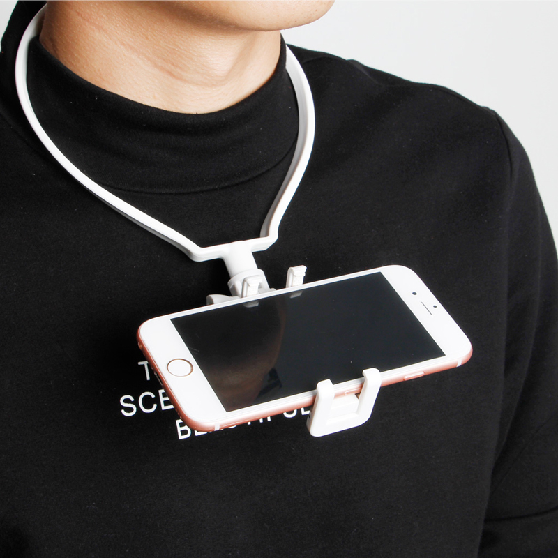 Hands-Free Wearable Hang On Neck Holder Stand Kit For Mobile Phone Action Camera