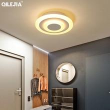 Lámpara acrílica cuadrada/redonda para sala de estar, dormitorio, hogar, AC85 265V, candelabro Led moderno, accesorios, novedad