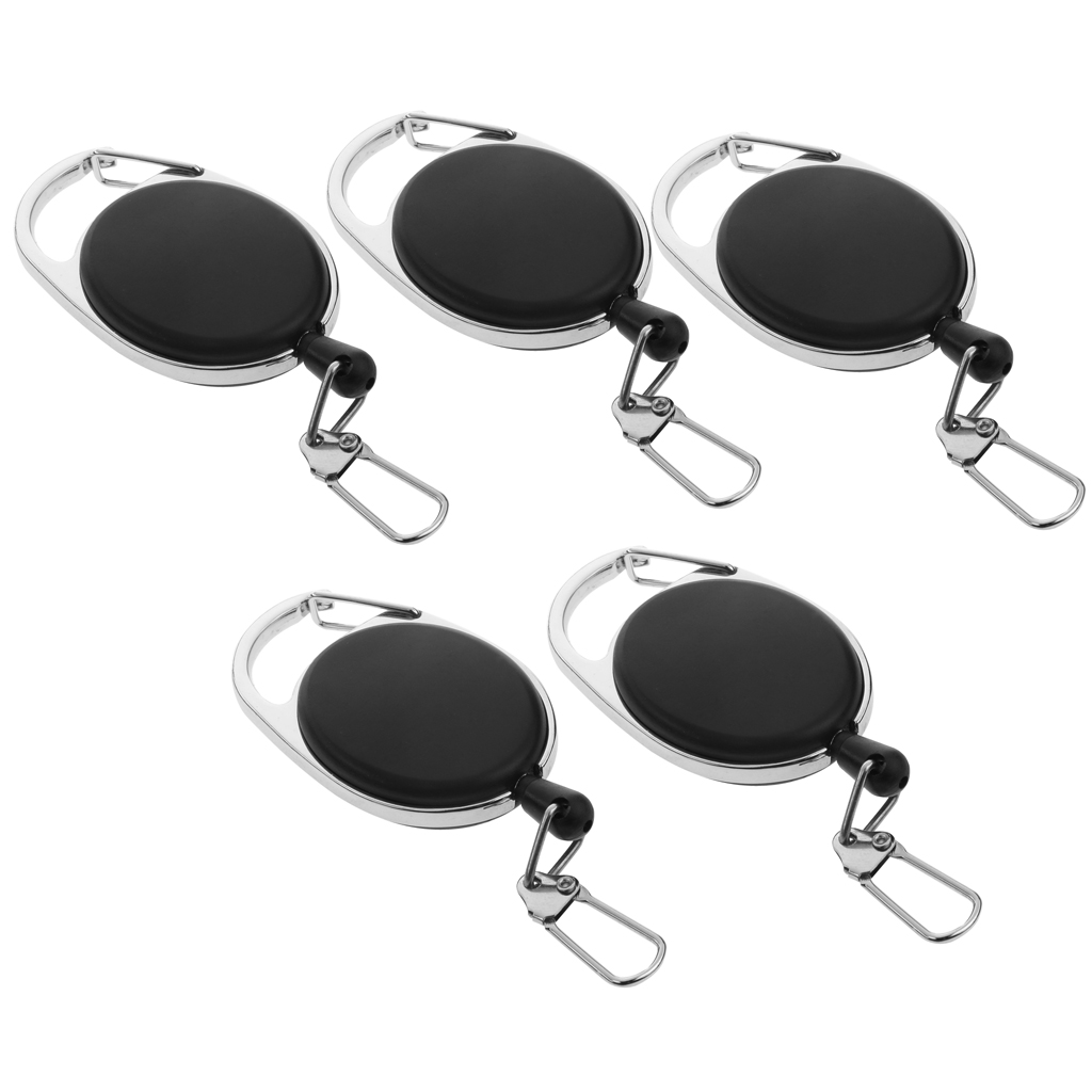 5pcs Retractable And Extendable Keychain, Multifunctional Snap Key Holder
