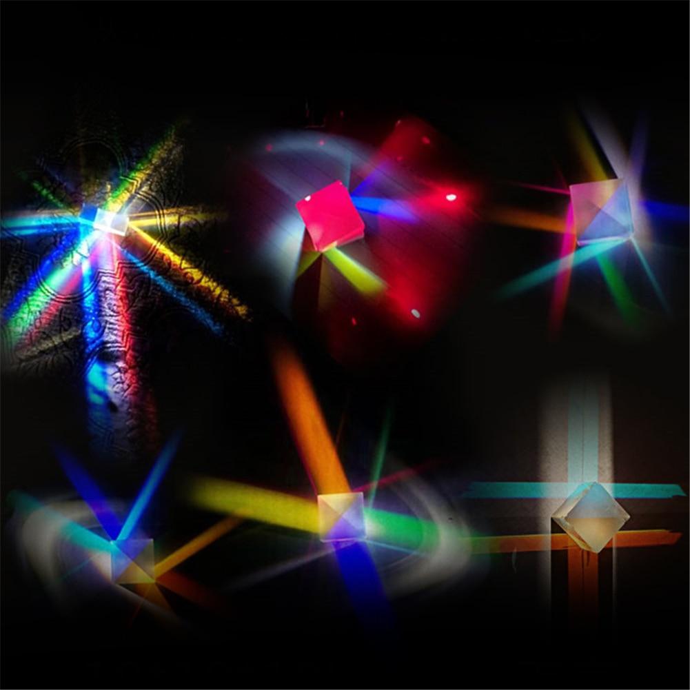 Купить 127*127*127 мм оптическая призма радужный куб светильник большой