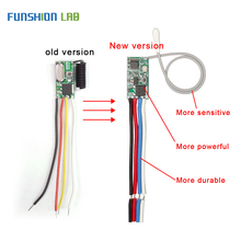 FUNSHION Universal Wireless 433 Mhz DC 3.6V 24V Remote Control Switch 433Mhz 1 CH RF Relay Receiver LED Light Controller DIY Kit