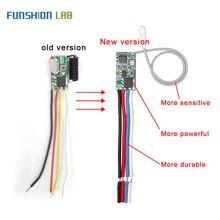 FUNSHION universel sans fil 433 Mhz DC 3.6 V 24 V télécommande commutateur 433 Mhz 1 CH RF relais récepteur lumière LED contrôleur kit de bricolage
