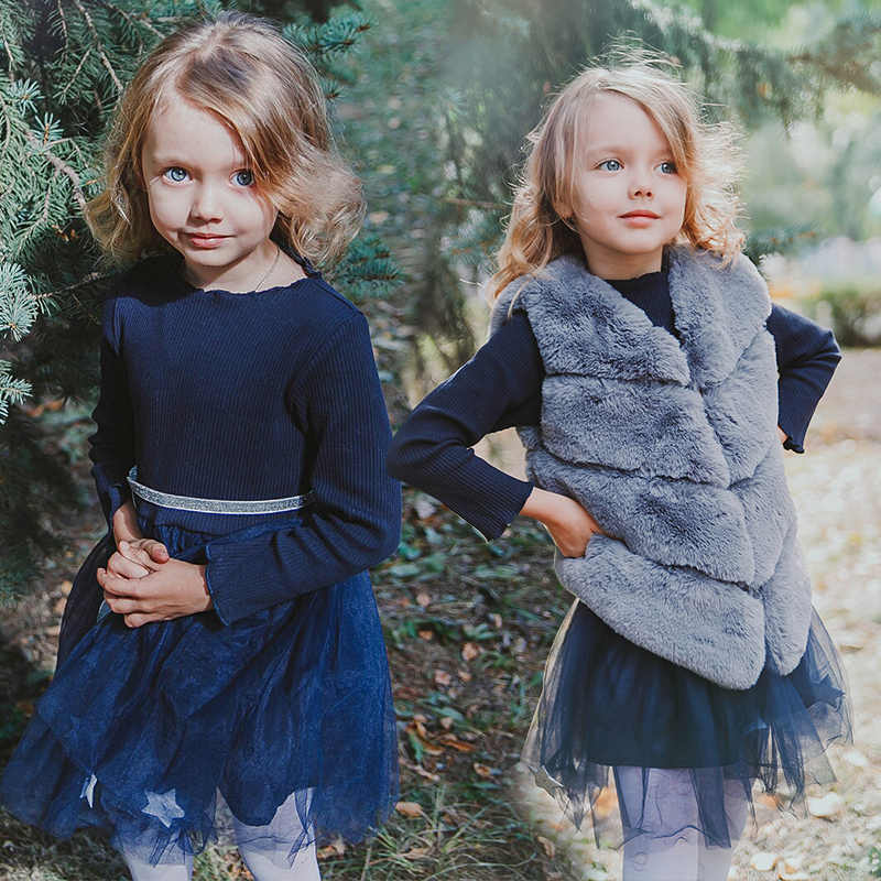 Bé Gái Lông Khoác Ngoài 2019 Trẻ Em Áo Thu Đông Thời Trang Dày Ấm Lông Thú Giả Môi Trường Áo Khoác Áo Khoác Ngoài 3 5 8 năm