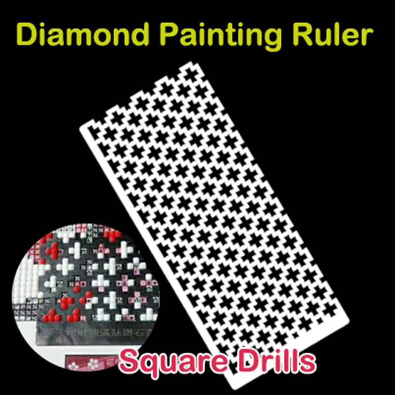 Diamond Painting Tools Mesh Ruler Square Drill Drawing Ruler Diamond Embroidery Accessory