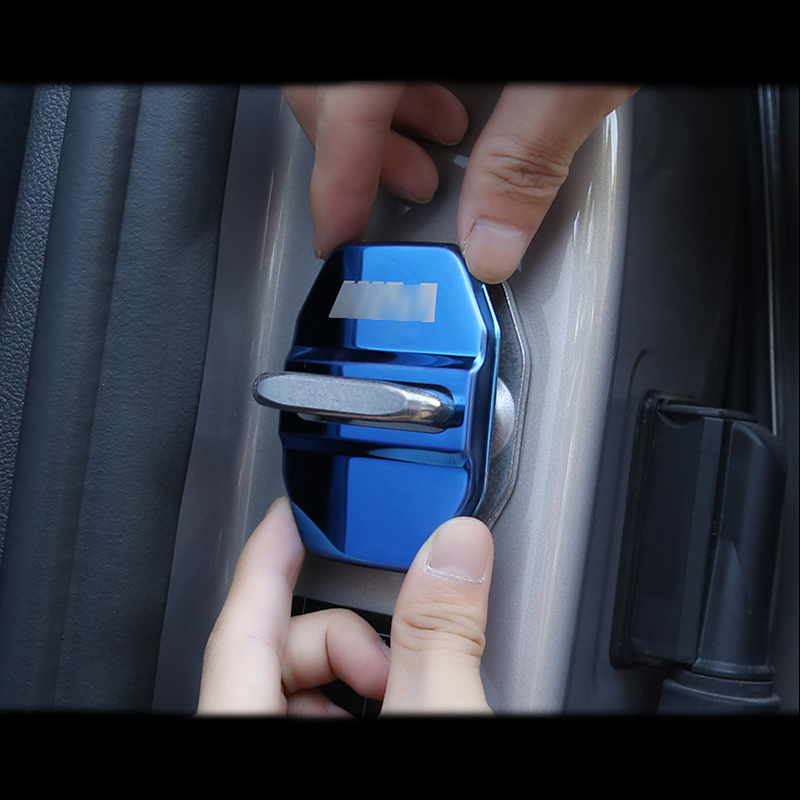 4pcs Car styling Door Lock Cover Cap Protective For BMW 1 2 3 4 5 7 Series X1 X2 X3 X4 X5 X6 F30 F10 F15 F16 F34 F07 F01 F15 F16