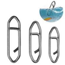 Pinces de pêche rapides en acier inoxydable, 30 pièces, connecteur de pêche, à changement rapide
