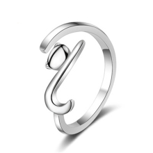 PISSENLIT Simple Adjustable Silver Ring Lovely Cat Women Jewelry Korean Trendy Wedding Rings For Accessories Gifts
