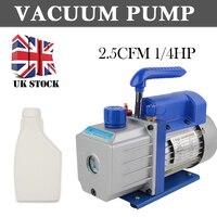 Electrical Mini Air Rotary Vane Vacuum Pump 220V Rotary vane Single stage Vacuum Pump HVAC Refrigeration Repair Tools