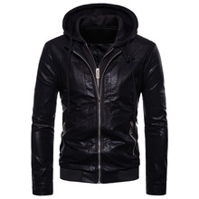 Leather Mens 2018 Autumn and Winter Foreign Trade New fake two-piece Riding Locomotive jacket F224
