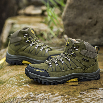 Men Hiking Shoes Waterproof Male Outdoor Travel Trekking Shoes Leather Climbing Mountain Shoes Hiking Hunting Boots Sneakers Man 4