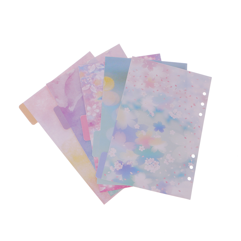 2020 New 5 Pcs Flower Dividers Accessories for Dokibook Notebook Planner A5 A6 Inner Page