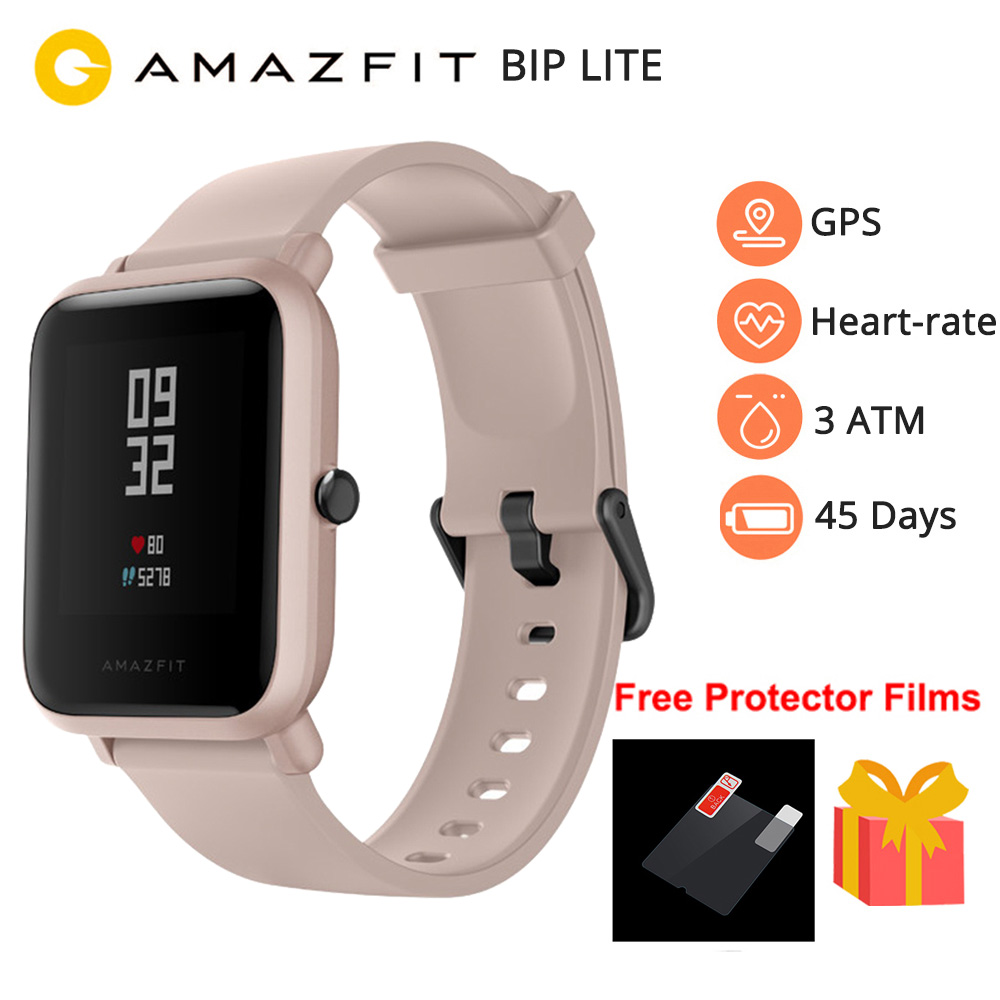 New 2019 <font><b>Amazfit</b></font> Bip <font><b>Lite</b></font> Smart Watch Men Global Version 45-Day Battery Life 3ATM Water-resistance Bluetooth Smartwatch image
