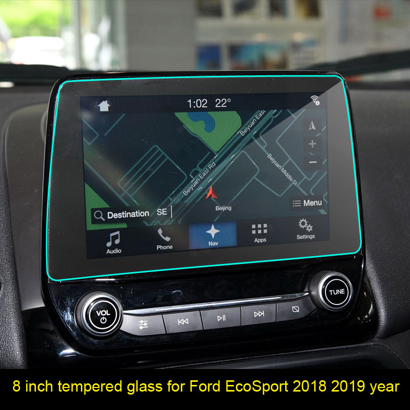For Ford Ecosport 2018 2019 2020 8 Inch Car GPS Navigation Screen Anti-scratch Tempered Film Sticker Protector