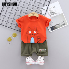 цена на Toddler Baby Boy Summer Clothes Boys Outfits Korean Fashion Kids Clothing Sets Outfit Infant Children Costume Suit For 0-4 Years