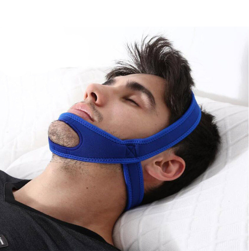 New Neoprene Anti Snore Stop Snoring Chin Strap Belt Anti Apnea Jaw Solution Sleep Support Apnea Belt Adjustable