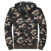 Camouflage Mens Hoodies Sweatshirts Jackets Thicken Fur Lining Winter Warm Cardigan Military Comfort Soft Coats Free Shipping(China)
