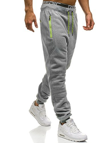 Pants Men New Solid Color Zipper Pocket Stitching Sweatpants Slim Jogger Men's Pants