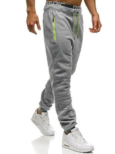 Pants Men New Solid Color Zipper Pocket Stitching Sweatpants Slim Jogger Men's Pants