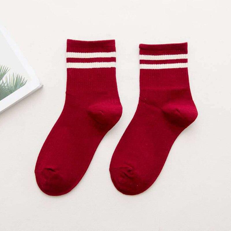Chaussettes façon tennis longues en coton pour femme