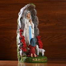 Bela virgem maria estatueta escultura presente de casamento cristão natal exibição desktop decorações renascença coleção
