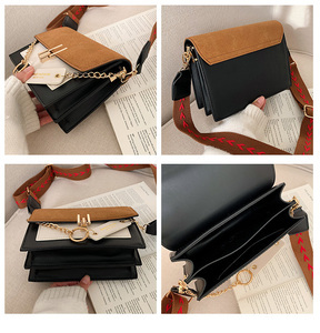 Image 2 - Women new mini handbags fashion ins ultra fire retro wide shoulder strap messenger bag purse simple style female Crossbody Bags