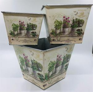 Image 5 - 12 juegos por lote, D14XH11.5CM, florero pequeño, macetas, centro de mesa de hierro para Pascua y decoración del hogar al por mayor
