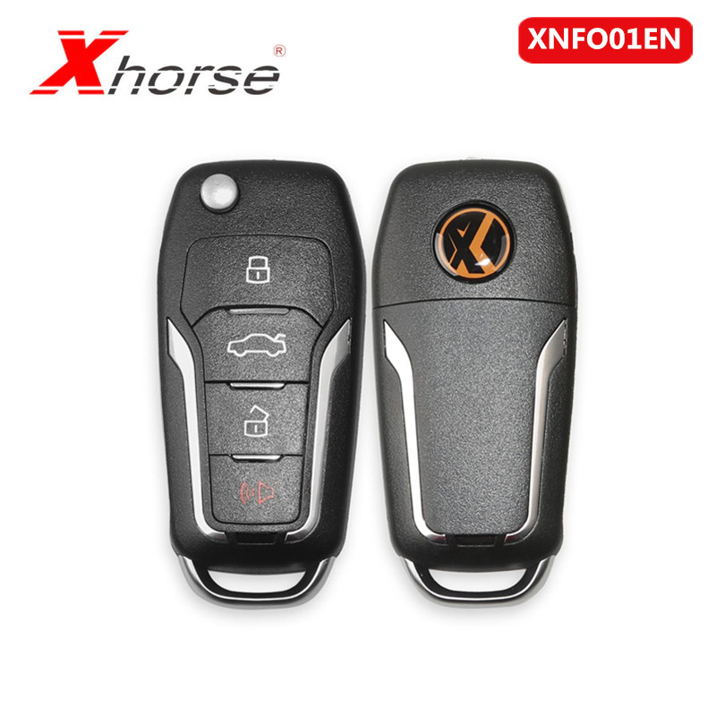 Xhorse  VVDI2 XNFO01EN Wireless Universal Remote Key 4 Buttons For Ford 1 Piece