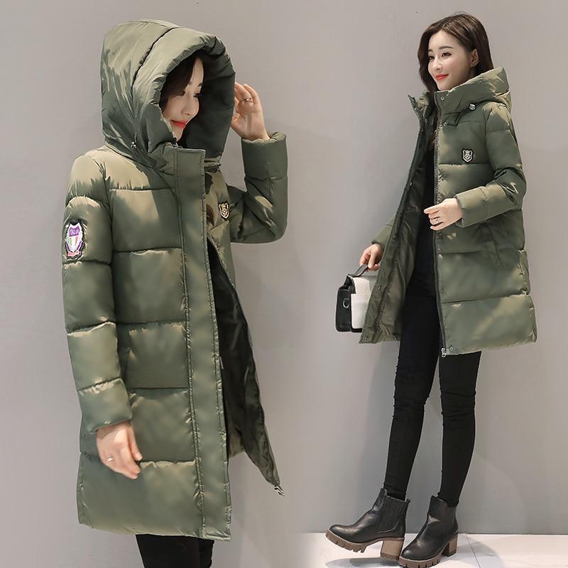 womens cotton padded long full length hooded coat winter warm parka outwear hot