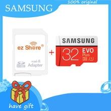 SAMSUNG – carte mémoire Micro SD EVO + Plus, 32 go/64 go/128 go/256 go, classe 10, avec adaptateur wifi ez share, sans fil