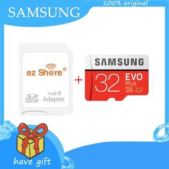SAMSUNG Micro SD card Class 10 with Wireless ez share wifi adapter 32GB 64GB 128GB 256GB Memory Card EVO+ Plus microSD