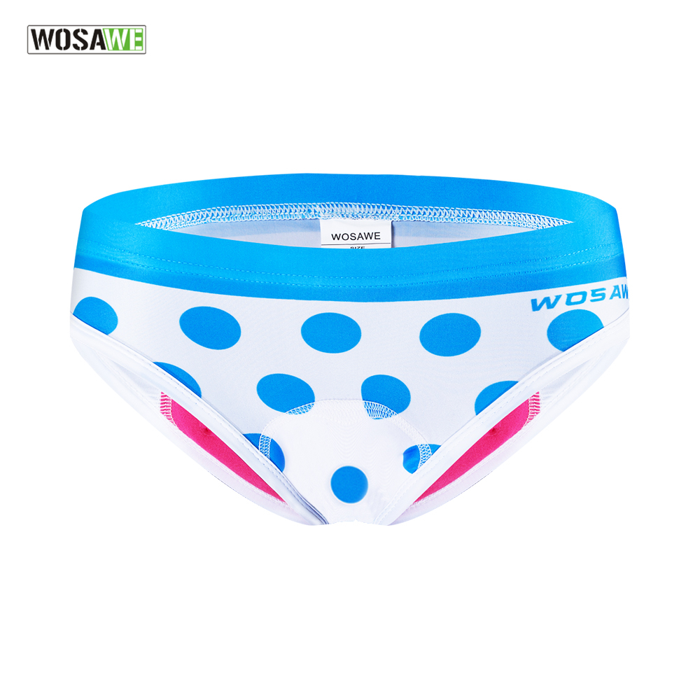 WOSAWE Women Bike Riding Cycling Triangle Shorts Underwear 3D Padded Gel MTB Bicycle Underpants Outdoor Riding Sports Shorts