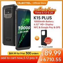 Oukitel k15 plus 10000mah nfc telefone inteligente 6.52