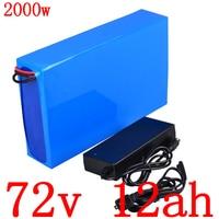 72V 72V 12AH 1000W1500W 2000W scooter elétrico da bateria de lítio bateria 72v 12ah bicicleta elétrica da bateria com carregador|Bateria de bicicleta elétrica| |  -