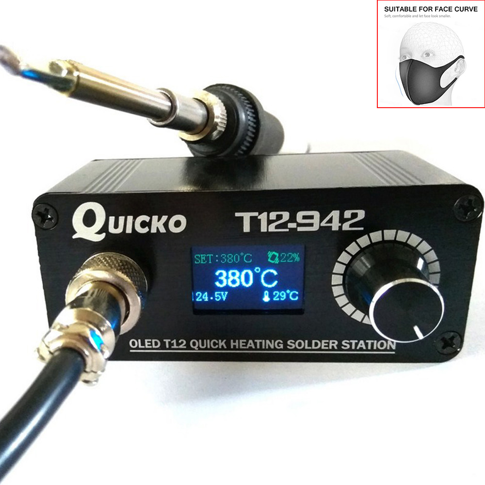 T12-942 Electronic Soldering Iron Station T12-K Digital Heating Soldering Iron Welding Iron New Version STC OLED QUICKO