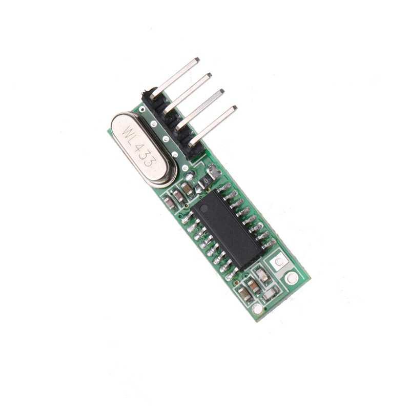 2019 ใหม่ 1 ชุด Superheterodyne RF Transmitter + Receiver โมดูลชุดสำหรับ 433 MHz