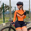 Xama ciclismo manga longa trisuit skinsuit feminino manga curta bicicleta wear macacão conjunto de roupas roadbike ciclo 23