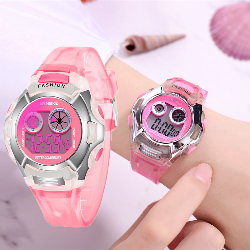 Factory Drop Shopping Kids Girls Watch Digital Led Children's Sports Outdoor Watch Clock Silicone Strap Relogio Digital Infantil