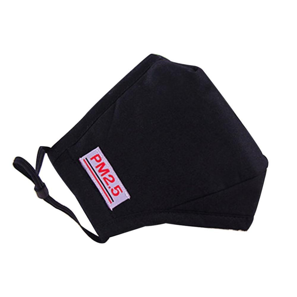 Washable Breathable Mask Cotton Fashion Safety Masks Anti Smog Pm2.5 Masks Dust-proof Autumn And Winter Mask 1pcs
