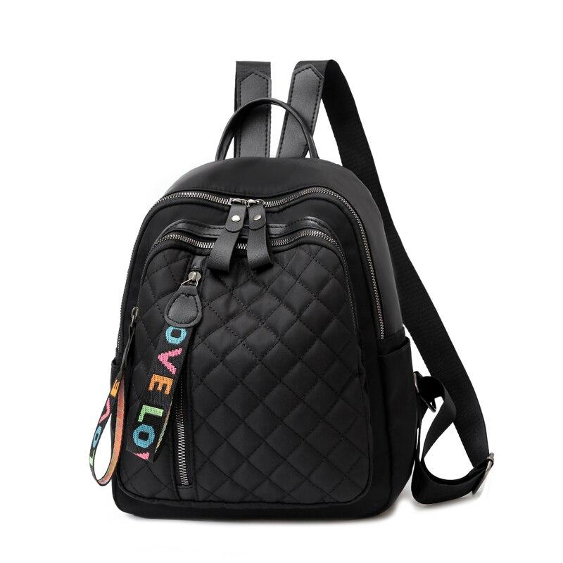 Vento Marea Travel Women Backpack 2020 New Oxford Female Shoulder Bag Casual Black Rucksack Plaid School Bag For Teenage Girls