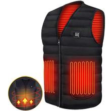 Men Jacket Smart Heating Cotton Vest USB Infrared Electric Heating Vest Women Outdoor Flexible Thermal Winter Warm Jacket Coat cheap CN(Origin) zipper None Solid Regular V-Neck Casual