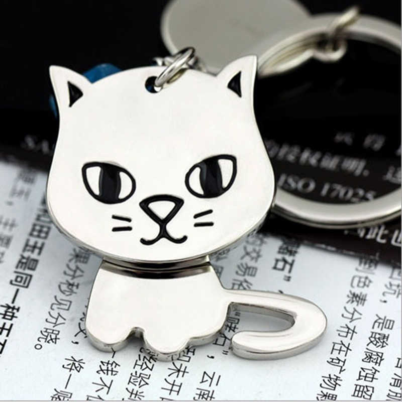 Key Chain Gifts Cat Cartoon Cute Kitten Dog Puppy Key Ring Keychain Couples Boyfriend Girlfriend Jewelry 2019 Hot Sale
