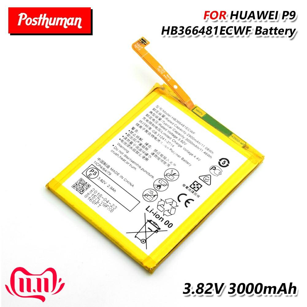 Lithium HB366481ECWF BatteryLipo Li-Po Li-polymer Rechargeable Phone Battery For Huawei P9 P10 P20 Lite G9 Honor 5C Honor 8
