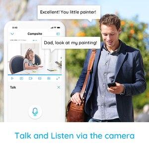 Image 5 - Reolink câmera de segurança em casa 3mp 2.4g hz wifi pan/tilt 2 way áudio slot para cartão sd câmera ip interior e1 dois pacote
