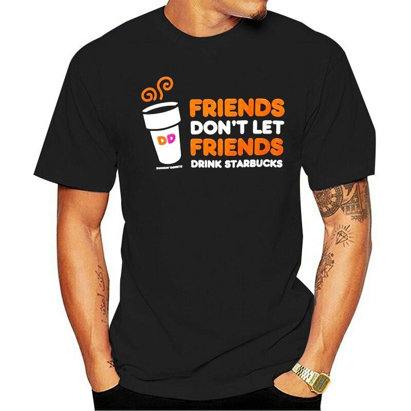 Camiseta dunkin donuts não deixe beber marrom thomem 2021