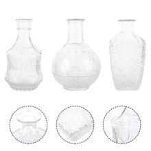 3 peças de vidro transparente vasos de flores design vaso de flores criativo peça central